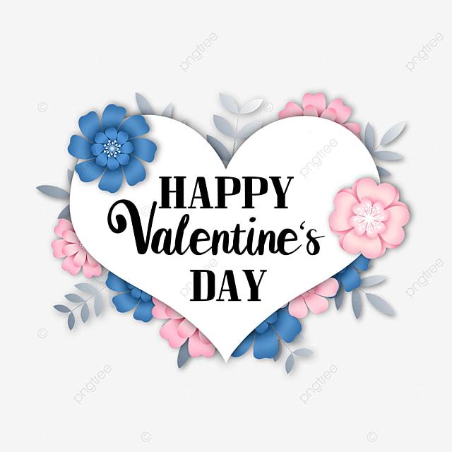 valentines day floral love border