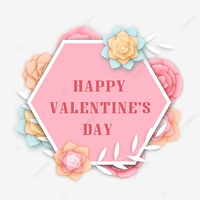 valentines day pink floral border