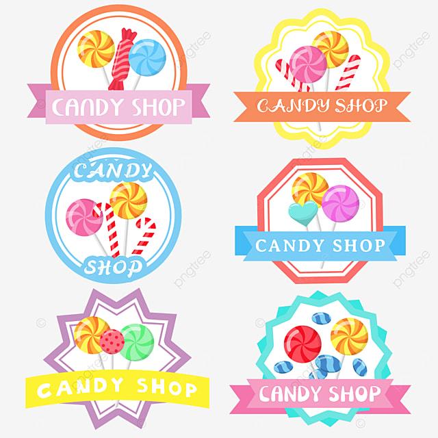 cartoon colorful lollipop candy shop