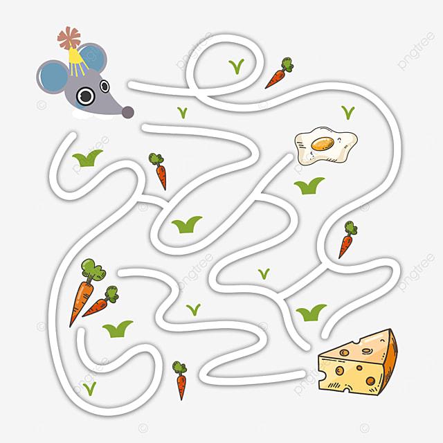 cartoon mouse cheese maze