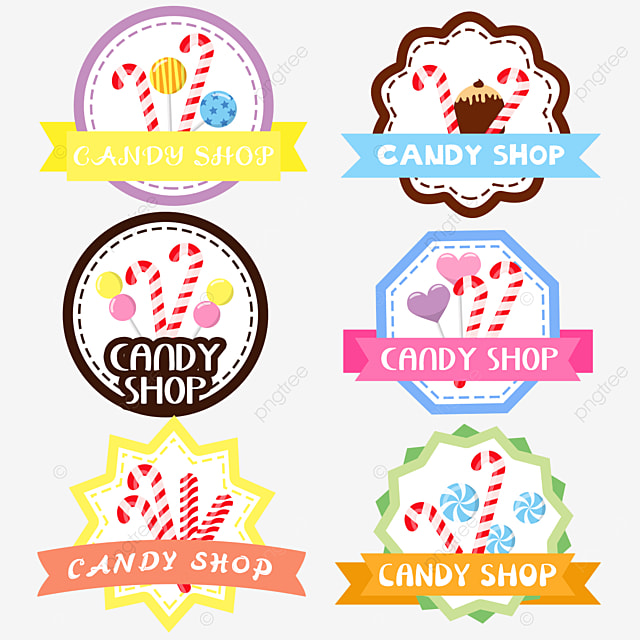 colorful cartoon style candy shop