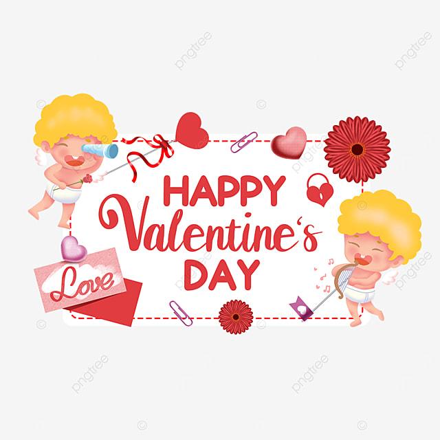 cute cupid letterhead flower love valentines day tags