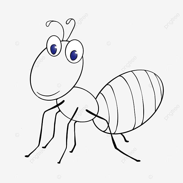 daze ant clipart black and white