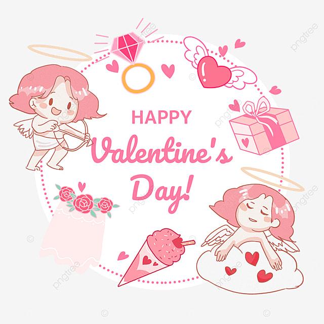 flower gift box ice cream diamond ring cupid valentines day tags
