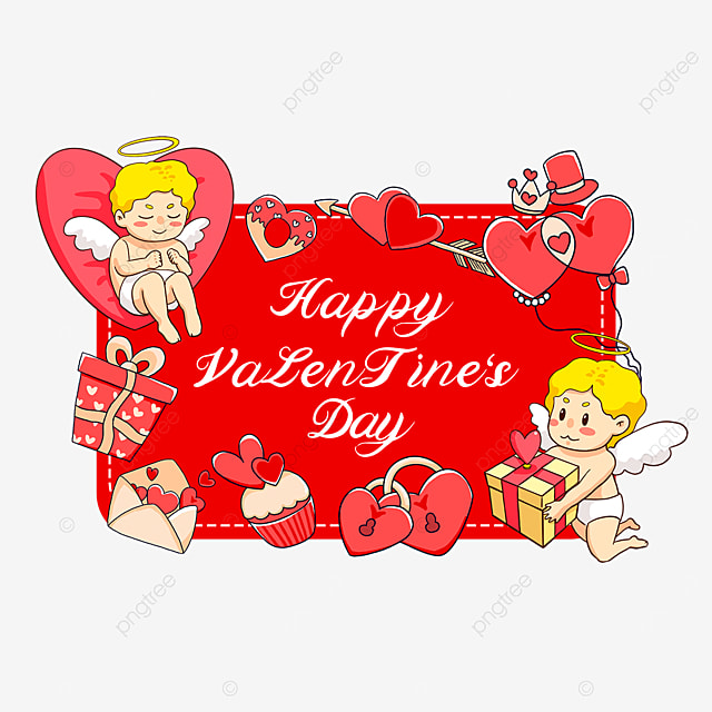 gift balloon love lock cupid valentines day tags