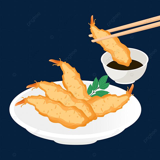 japanese fried tempura food chopsticks edible