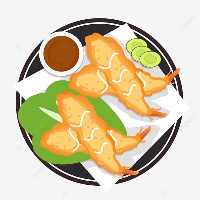 japanese tempura food gourmet fried cucumber blotting paper