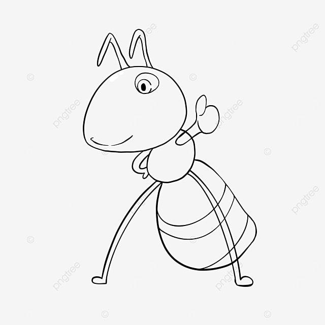 praising ants clipart black and white