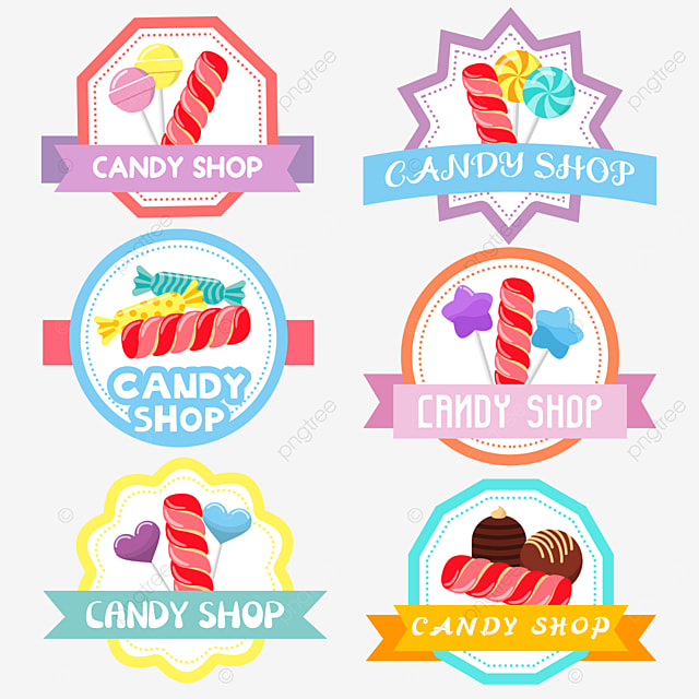 red sweet cute candy shop
