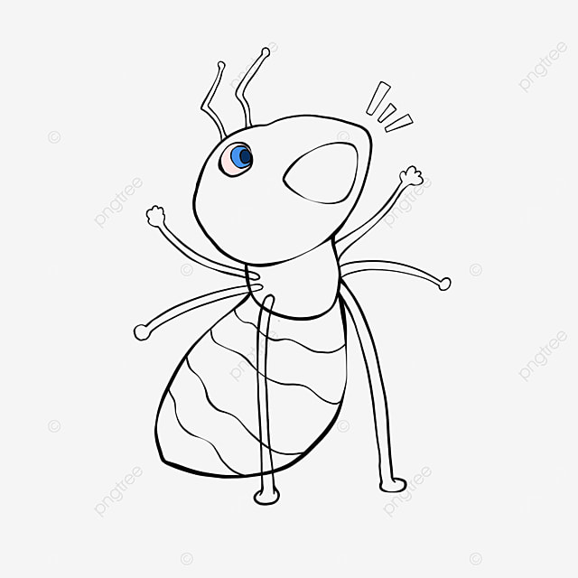shouting ant clipart black and white