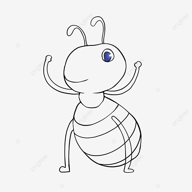 strong ant clipart black and white