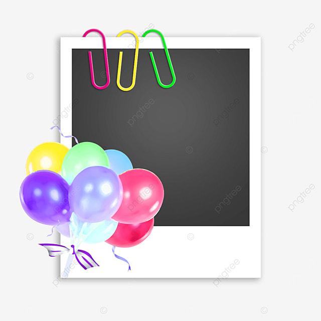 balloon birthday photo frame