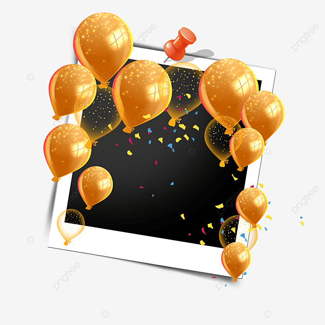 balloon happy birthday photo frame