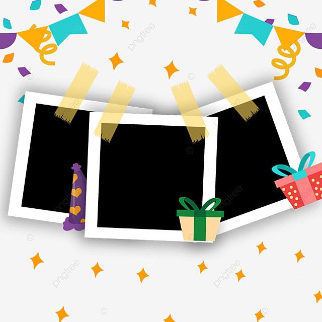 birthday bunting gift photo frame