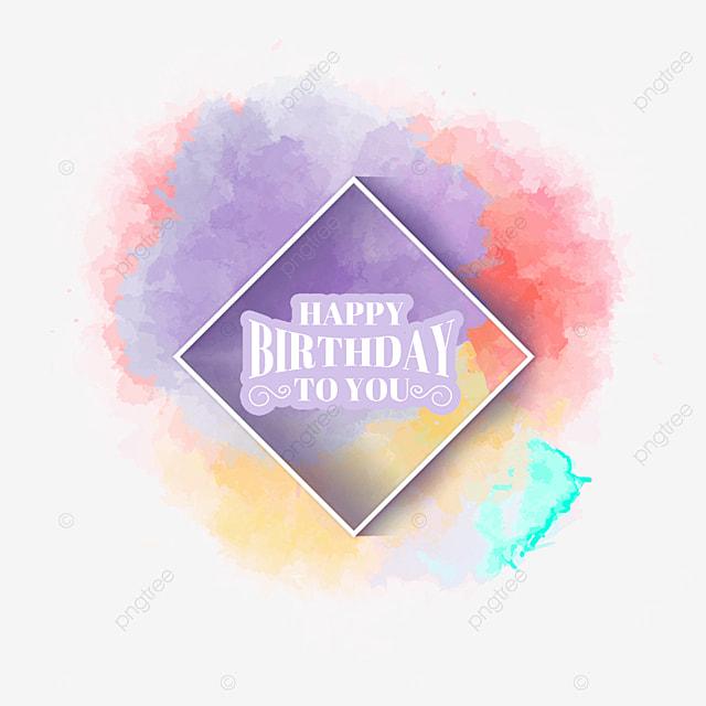 birthday colorful brush border