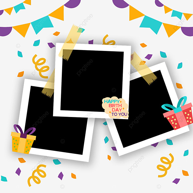 birthday photo frame bunting decoration