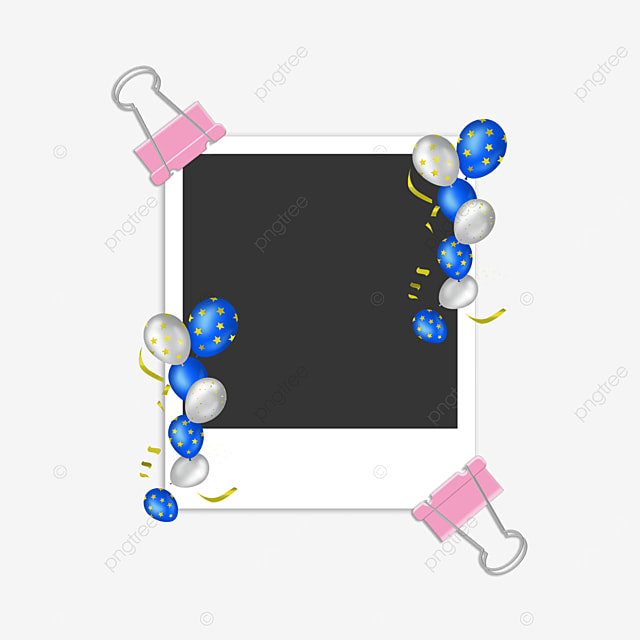 blue balloon birthday photo frame