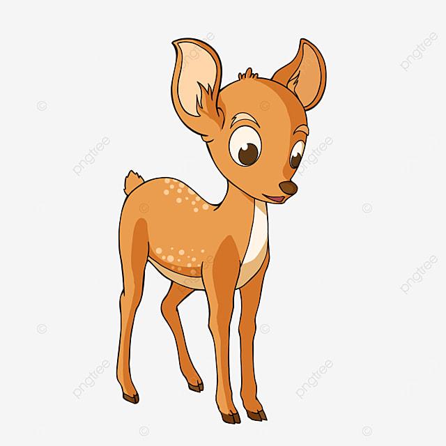 cartoon baby deer