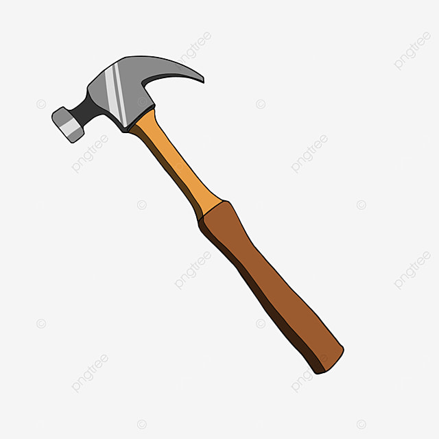 cartoon metal hammer hammer clipart