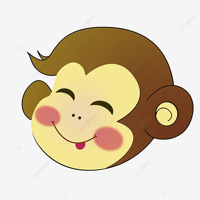 cartoon smiling monkey face clipart