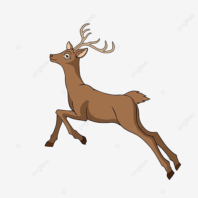 cartoon style animal fawn clipart