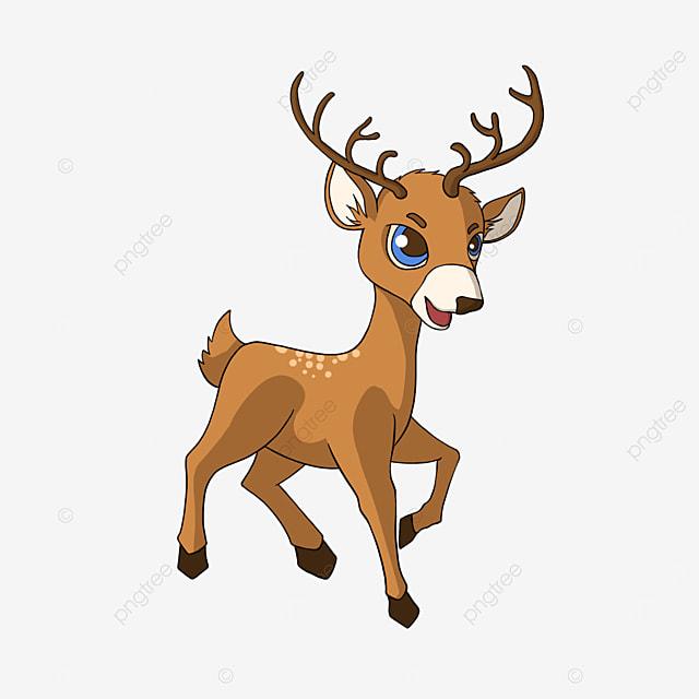cartoon style leg raising fawn clipart