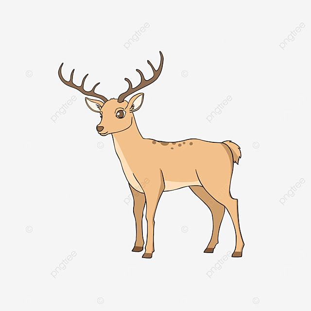 cartoon style spotted deer clipart