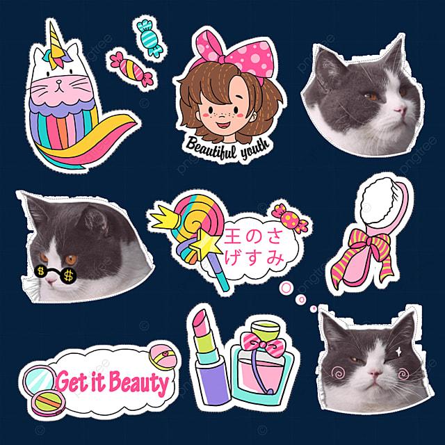 cat cute emoji pack