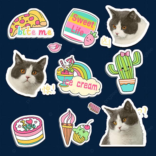 cat cute stickers
