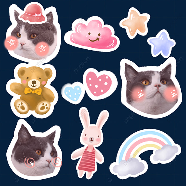 cat emoji pack cute style