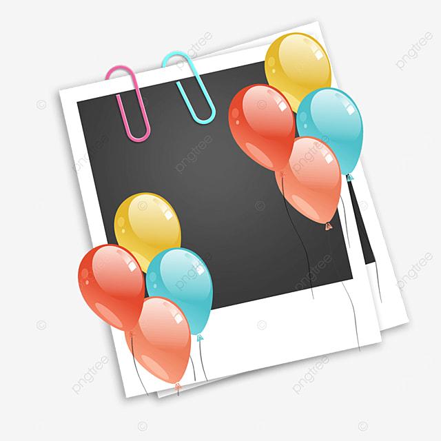 colorful balloon birthday photo frame