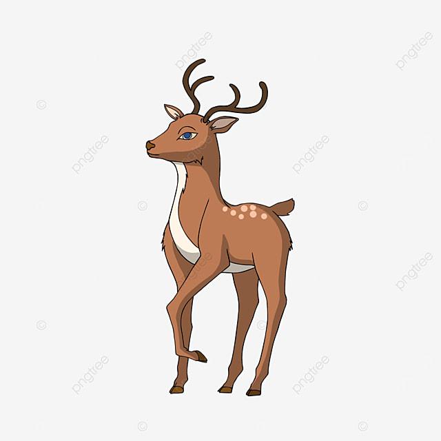 cute baby deer in cartoon style clipart