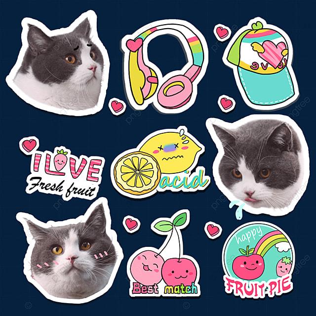 cute cat emoji pack