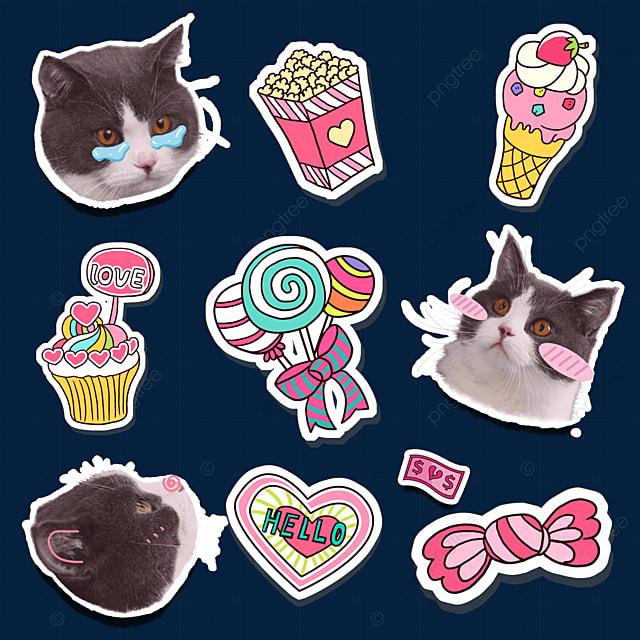 cute cat sticker emoji pack