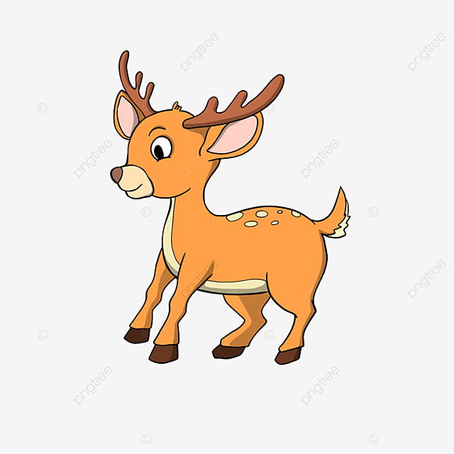 cute fawn cartoon style