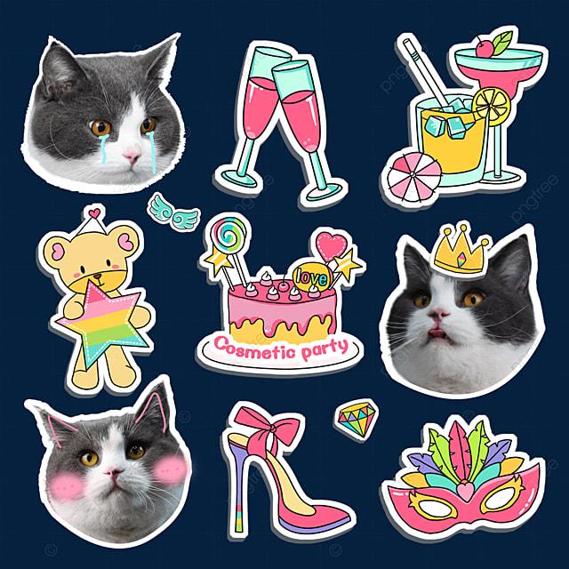 cute sticker english short emoji pack