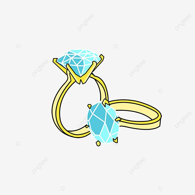 diamond ring pair ring clip art elements
