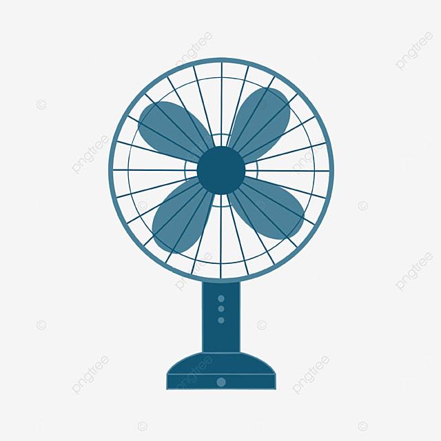 fan clipart blue fan