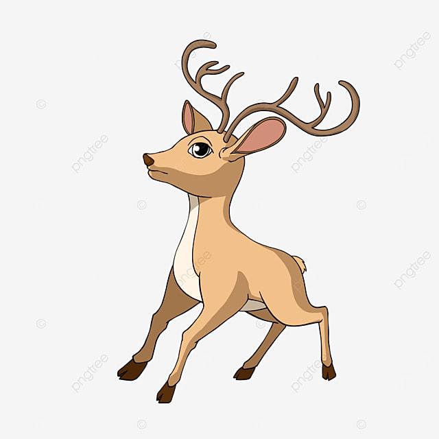 fawn clipart cartoon style cartoon animal
