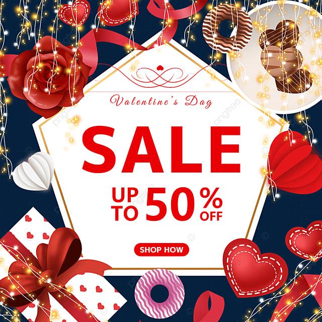 flower love ribbon gift box valentines day light promotional label