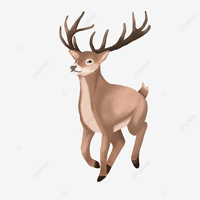 happy running wild animal elk clipart