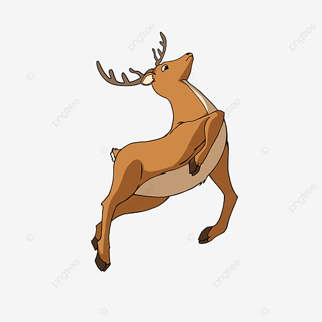 jumping fawn clipart cartoon style