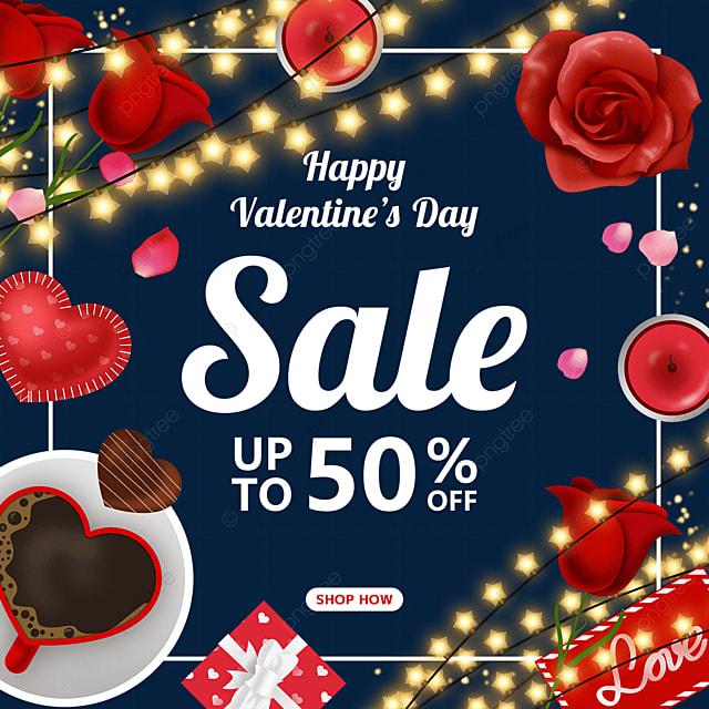 light bulb love valentines day flower coffee letterhead promotional label