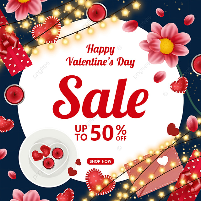 love valentines day bulb candle flower gift box promotional label
