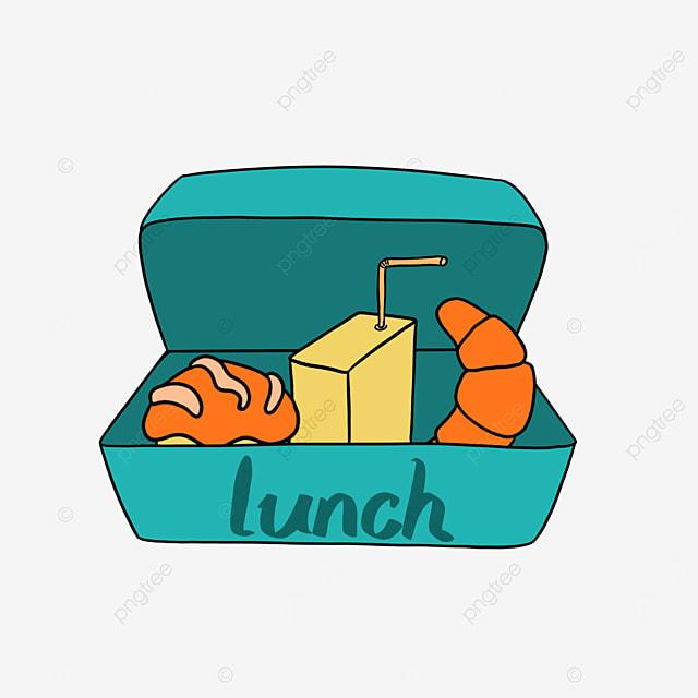 lunch clip art cartoon lunch bento milk bread