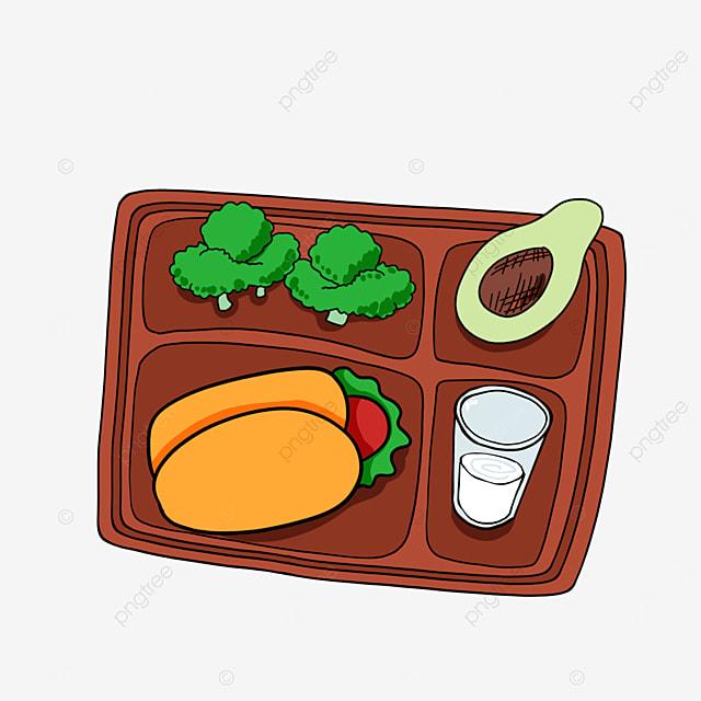 lunch clipart cartoon lunch avocado