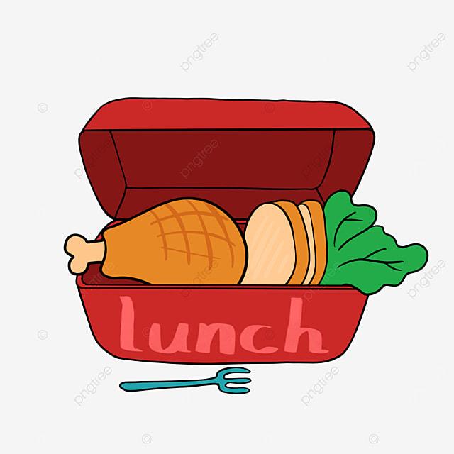 lunch clipart cartoon lunch bento chicken drumstick
