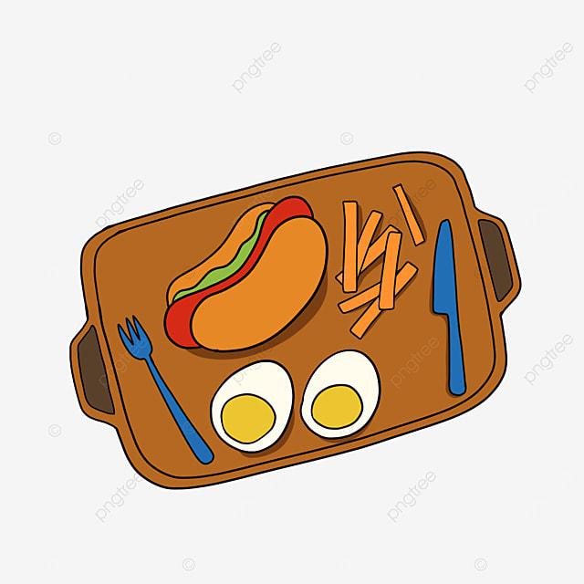 lunch clipart cartoon lunch bread hot dog