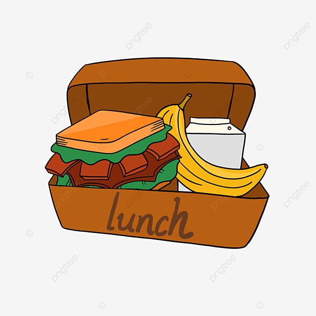 lunch clipart cartoon lunch hamburger banana