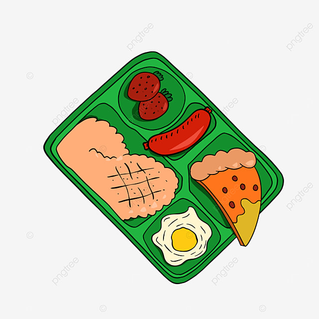 lunch clipart cartoon lunch rice egg